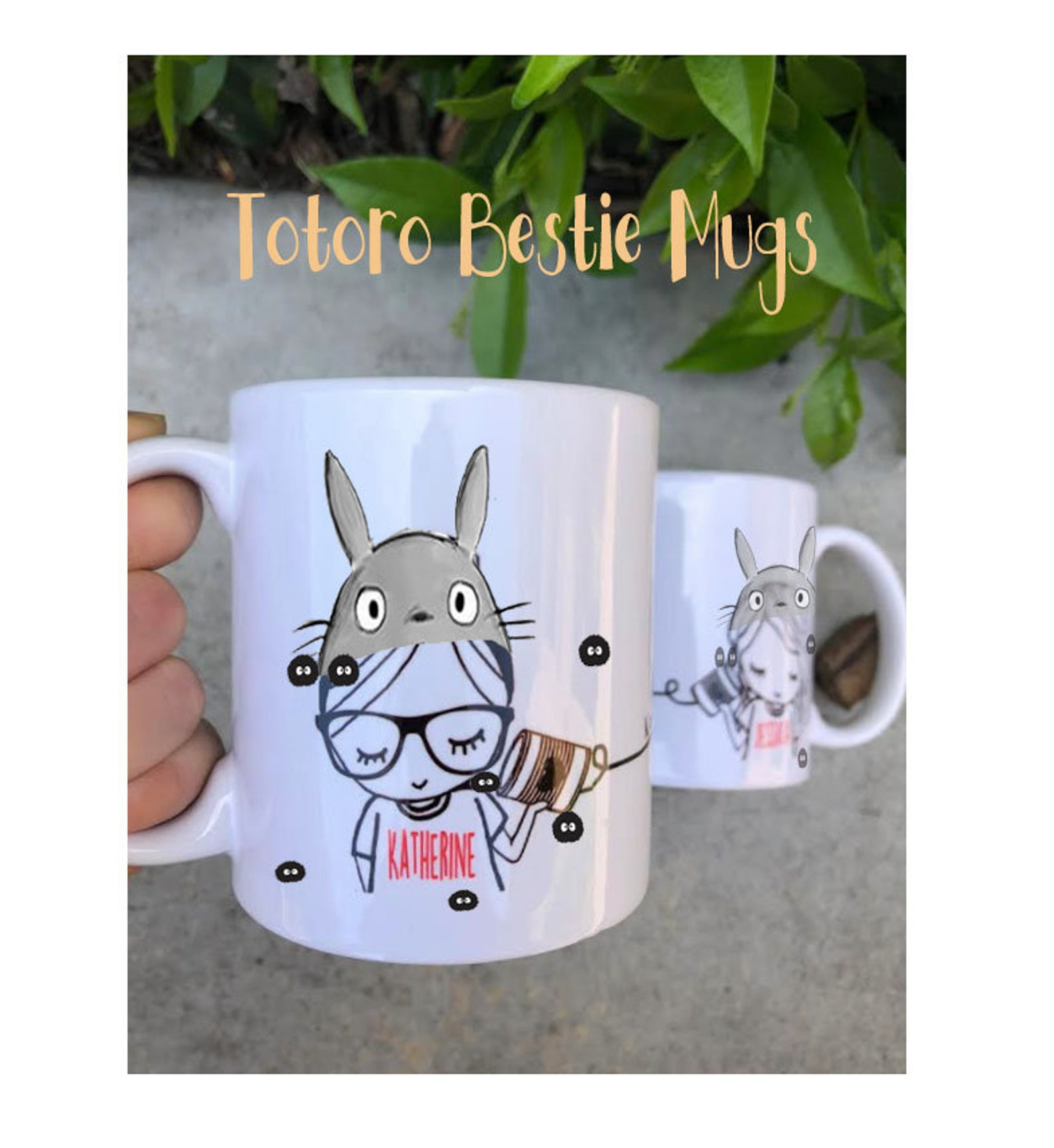 Kawaii Long Distance Gift for Best Friend Mug My Neighbor Totoro Studio Ghibli unique gift Cute Coffee Mug