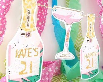 21st Birthday Decorations For Her Etsy