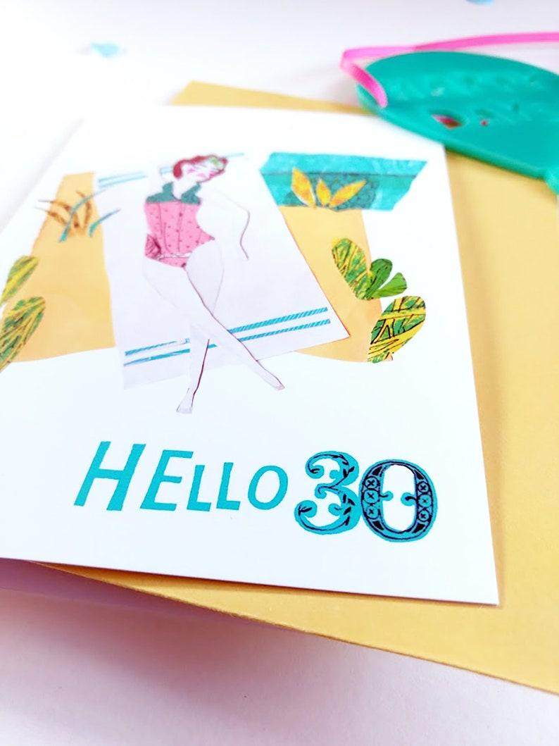 30th Beach Birthday Card For Her