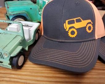 Offroading Unisex Orange Mesh Back Hat