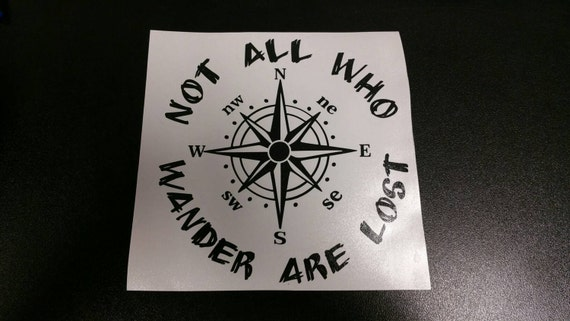 Not All Those Who Wander Are Lost Glitter Compass Sticker 5