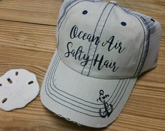 Ocean Air. Salty Hair Anchor Hat