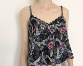 Silky Rose Camisole victorias secret 90s lingerie medium