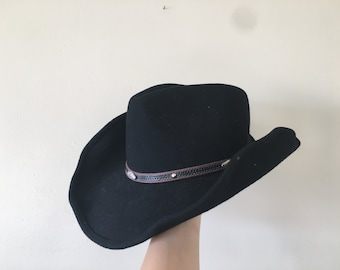 70s Cowboy Hat   felt   wool   western   a5c330fe05c1