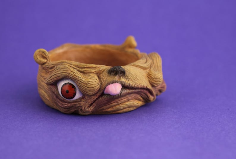 Monster creature bangle unique artist art jewellery pug dog image 0