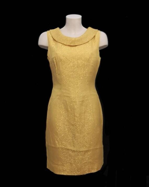 1960s GOLD LAMÉ DRESS