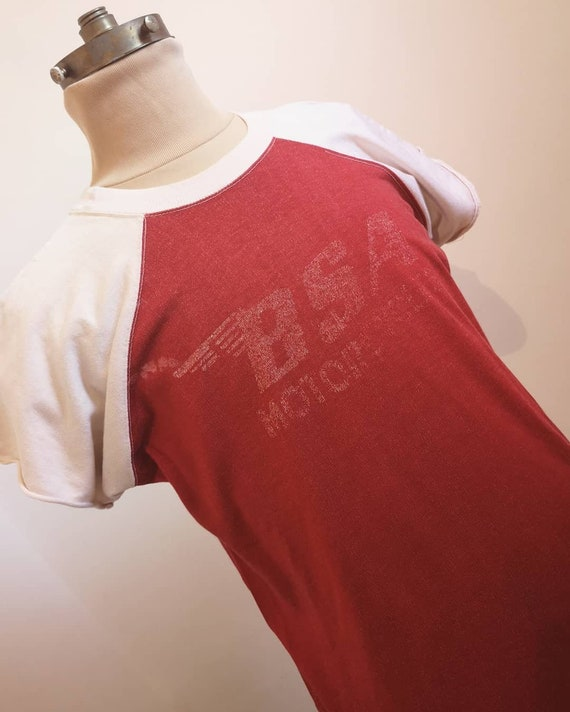 1960s BSA MOTORCYCLES T-SHIRT - image 1