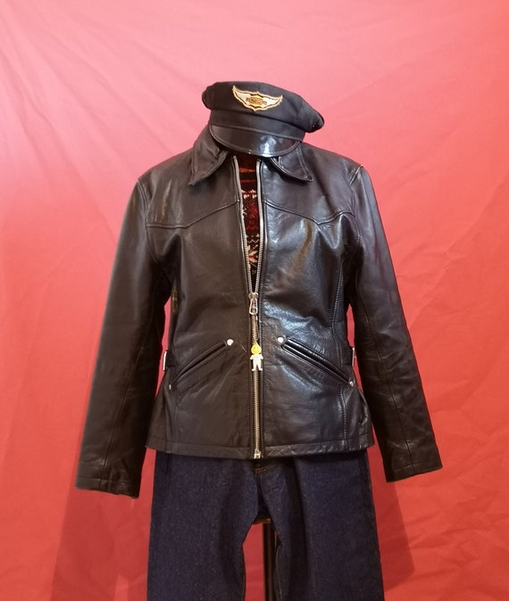 1940's style women leather jacket