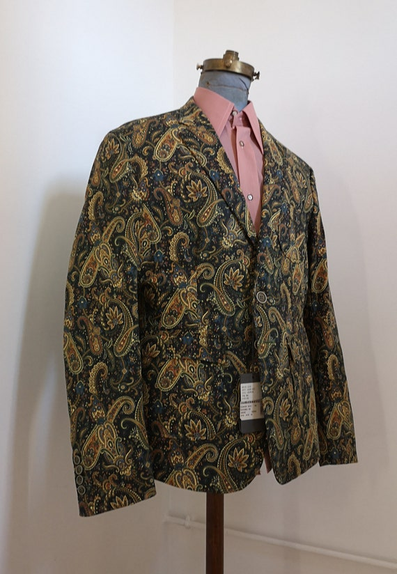 1960's style psychedelic paisley print blazer - image 3