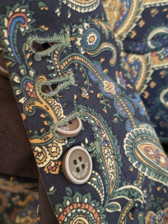 1960's style psychedelic paisley print blazer - image 9