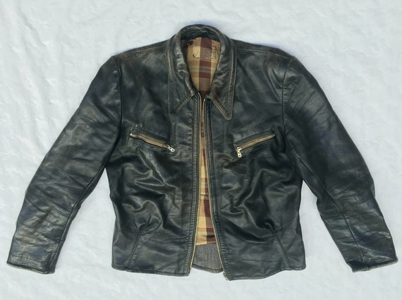 1930s 1940s German Leather Jacket