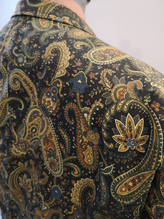 1960's style psychedelic paisley print blazer - image 4