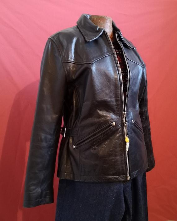 1940's style women leather jacket - image 2
