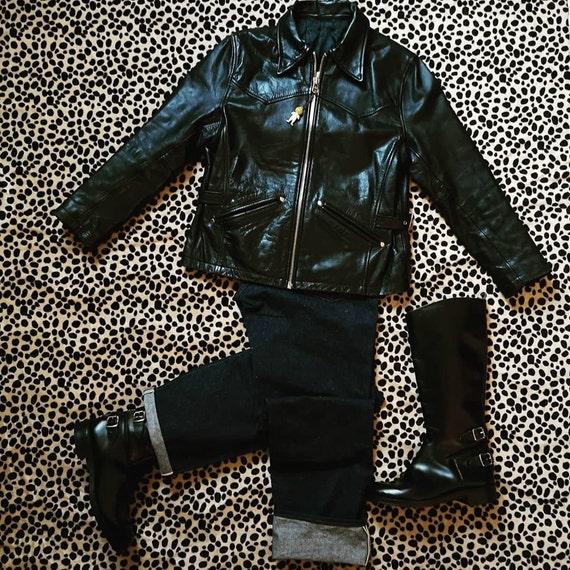 1940's style women leather jacket - image 5