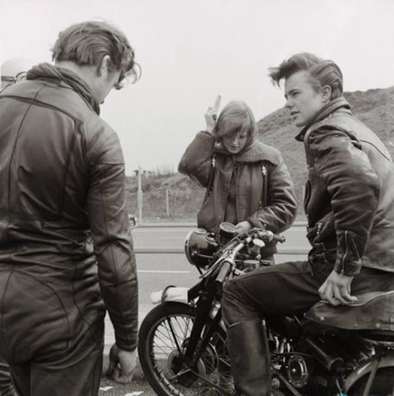 1940's style women leather jacket - image 10