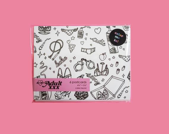 Conjunto de tarjeta postal de adultos XXX