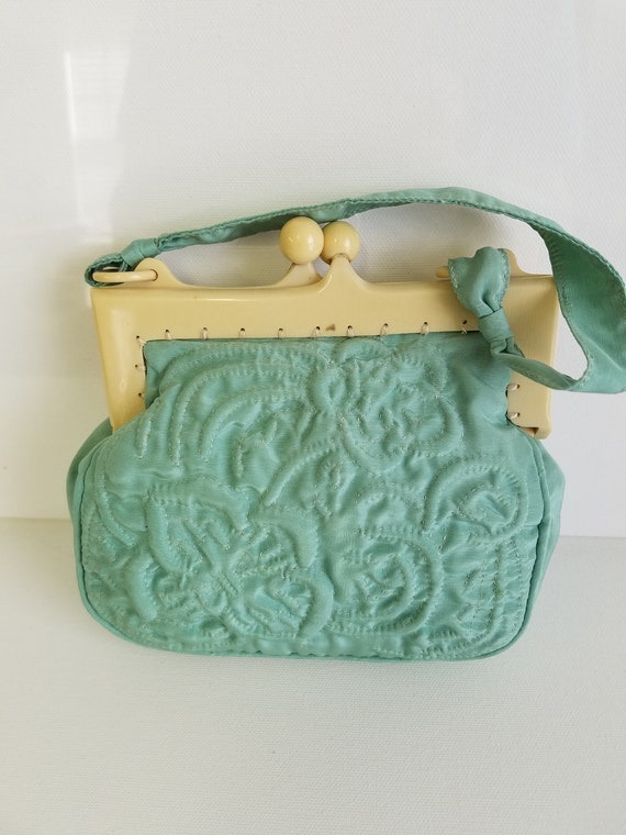 Bakelite Embroidered Wristlet