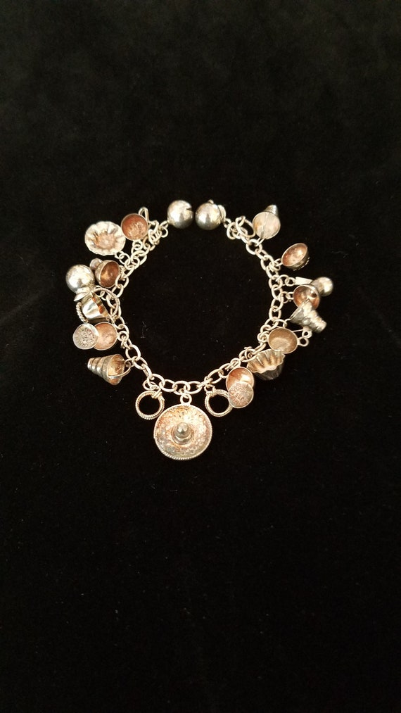 Mexico JMS Charm Bracelet Silver