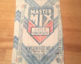 Vintage Feed Bag Vintage Feed Sack cotton feed sack farm feed sack  dc1402f1a189d