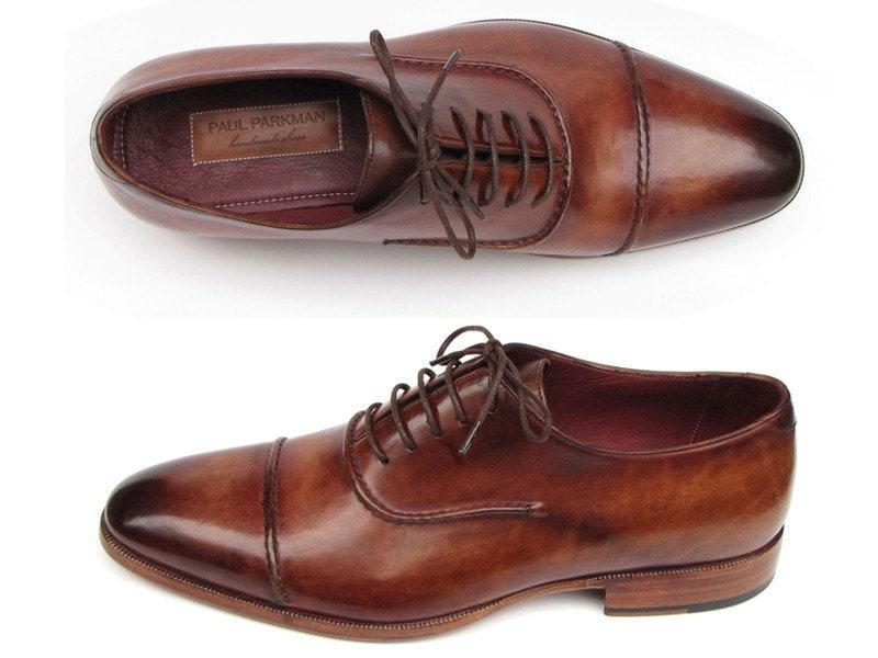 paul parkman hommes  ; s captoe oxfords chaussures chaussures chaussures marron (id # -brw) ce25ae