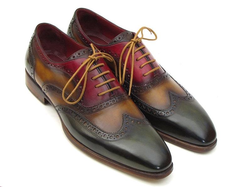b6ceaac679957 Paul Parkman Men's Three Tone Wingtip Oxfords (ID#PP22F75)