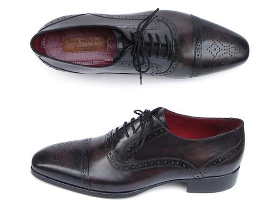 Captoe Captoe Captoe Oxford Paul Parkman hommes Bronze et noir chaussures (ID #77U844) | Approvisionnement Suffisant  faaed3