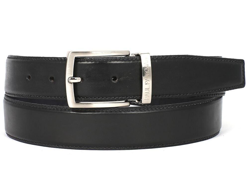 paul paul paul parkman hommes & # 39; s ceinture en cuir peint à la main noire (id # b01-blk) da787b