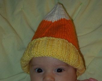 Adorable Halloween Candy Corn Baby Hat Costume
