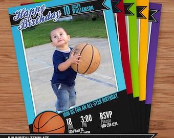 Basketball Card Birthday Invitation