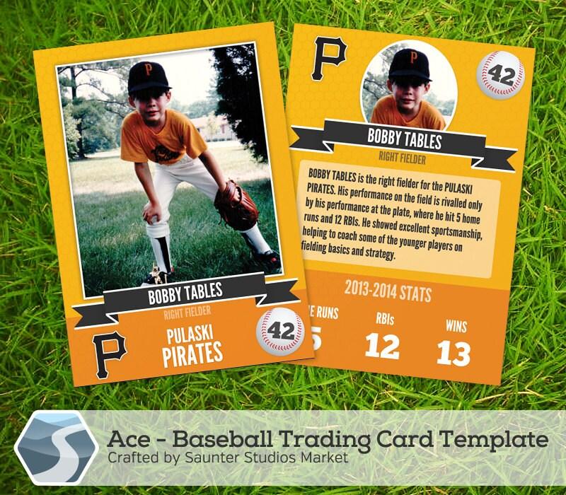 Ace: Baseball Trading Card 2.5 x 3.5 Photoshop