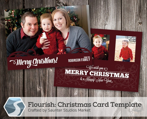 image 0 - Photoshop Christmas Card Templates