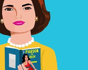 Jackie Kennedy Print, Jackie Kennedy Poster, First Lady Wall Art, Jackie Kennedy Wall Art, Fashion Icon