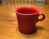 Vintage Homer Laughlin China Fiesta ware scarlet or red coffee cup