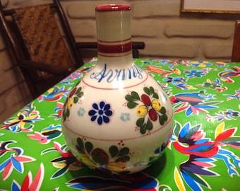 Vintage hand painted Mexican jug or vase- Avanza