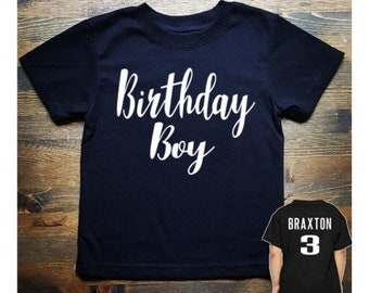 Boys 1st 3rd 2nd 4th 5th 6th Birthday Shirt Personalized