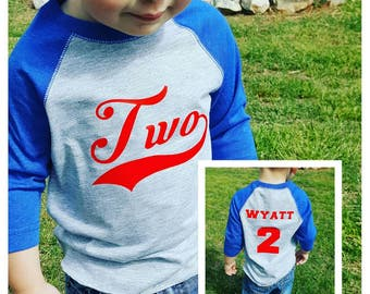 Boys 2nd Birthday Shirt Baseball Birthday Shirt Baseball