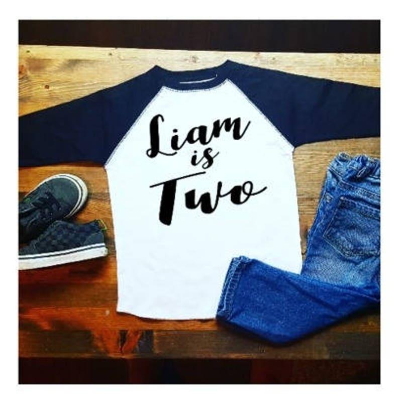 Boys 2nd Birthday Shirt Personalized 2 Year