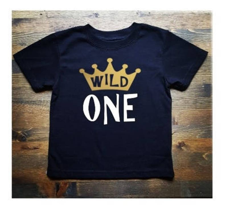 Wild One First Birthday Gold Crown Shirt