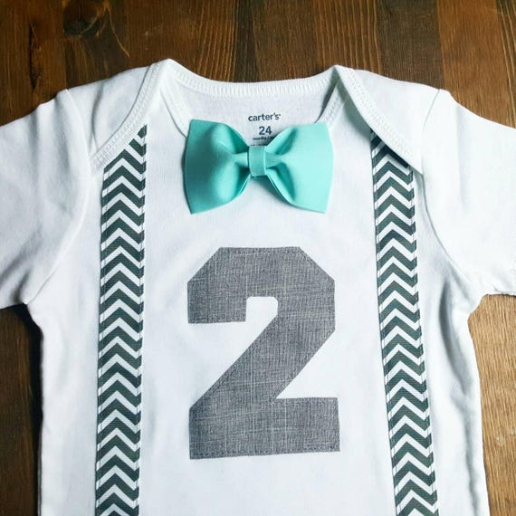 Boys 2nd Birthday Shirt Bow Tie