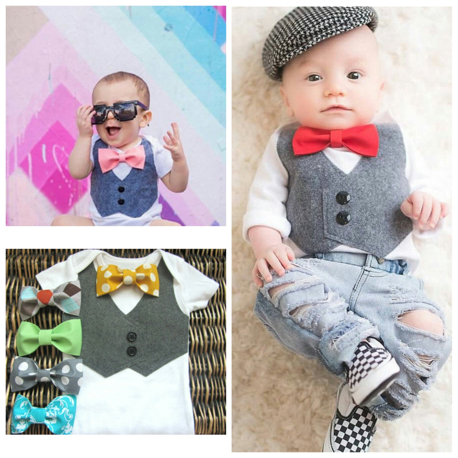 Baby Boy Clothes Wedding Outfit Bow Tie