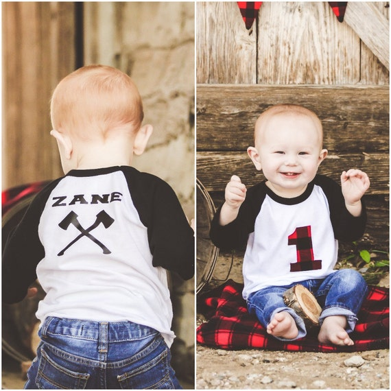 945c18335 Lumberjack First Birthday Shirt Woodland Birthday Black | Etsy