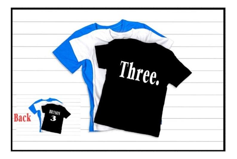 Birthday Boy Shirt 3 Personalized 3rd