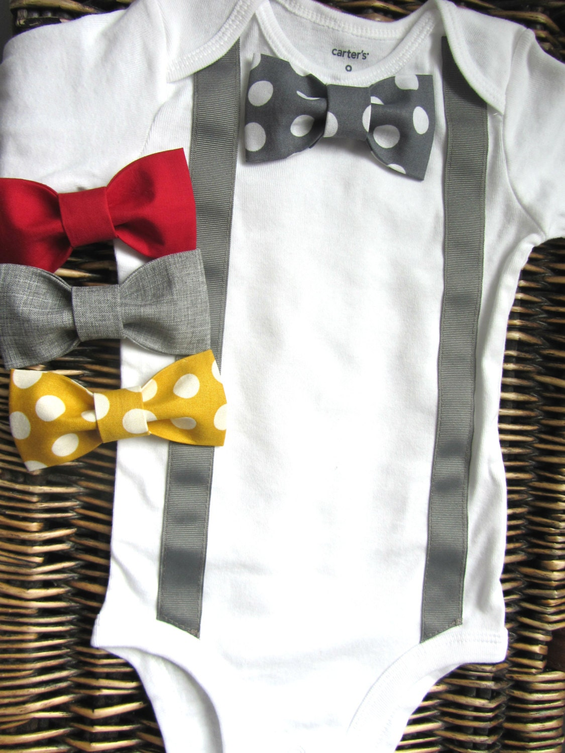Baby Boy Outfits Boys Wedding Outfit Suspender Bow Tie Etsy