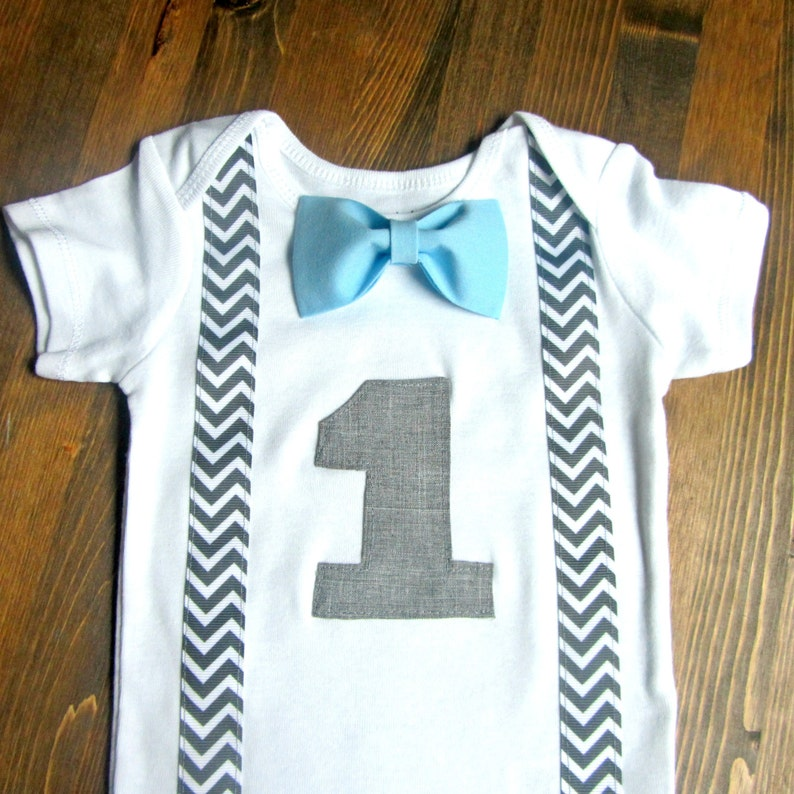 e70733e1205bb Boys First Birthday Outfit - Baby Boy Clothes - First Birthday Boy Outfit -  1st Birthday - Birthday Bow Tie - Baby Blue Birthday Outfit