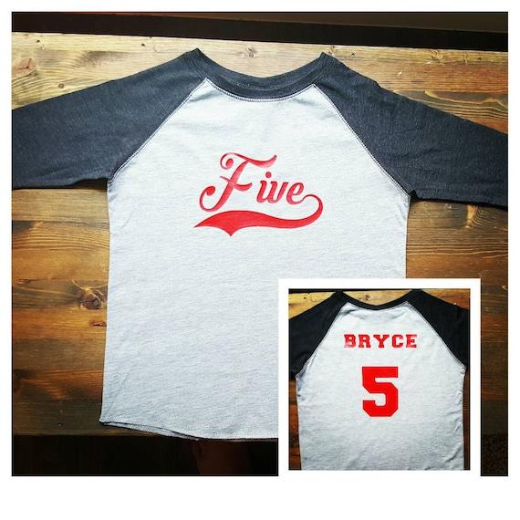 Boys 5th Birthday Shirt Baseball