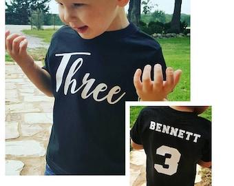 Boys 3rd Birthday Shirt - Personalized 3rd Birthday Shirt - 3 Year Old Birthday - Three Year Old Birthday Shirt - 3rd Birthday Shirt raglan