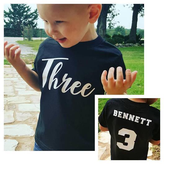 Boys 3rd Birthday Shirt Personalized 3