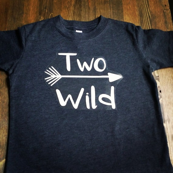 Boys 2nd Birthday Shirt Boy Two Wild