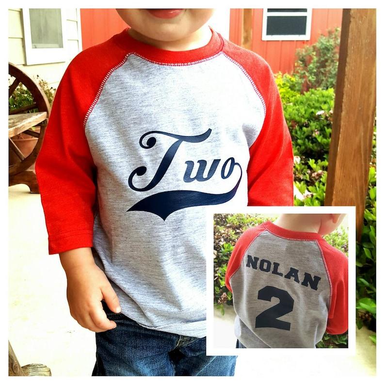 Boys 2nd Birthday Shirt Baseball
