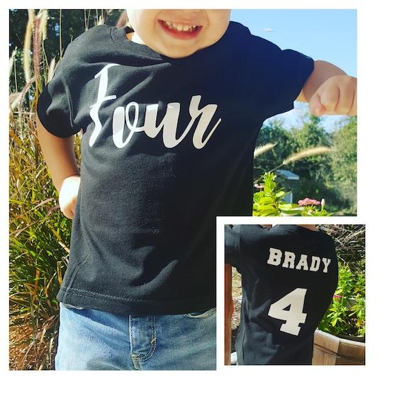 Boys 4th Birthday Shirt Four 4 Year Old